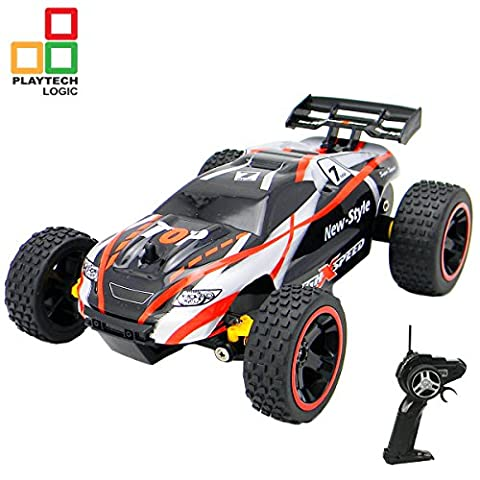 RC Remote Control Racing Buggy Truggy Car 2.4Ghz – 1:18 Fun Turbo Speed Remote Control Toy - 15kmh Fast Electric Radio Controlled Buggy with Racing Tyres – Indoors / Outdoors – RTR