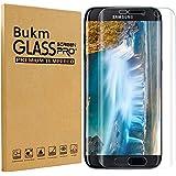 Samsung Galaxy S7 Edge Protecteur d'écran, Bukm Premium Protecteur d'écran en verre tempéré [Couverture plein écran] [9H Dureté] [Crystal Clear] Protection Film Cover pour Samsung Galaxy S7 Edge 5.5 pouces