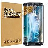 Galaxy S7 Edge pellicola protettiva, Bukm proteggi schermo in vetro temperato [Full Screen Coverage] [durezza 9H] [Crystal Clear] copertura film Protezione Schermo per Samsung Galaxy S7 Edge