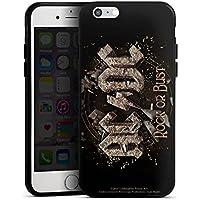 DeinDesign Silikon H/ülle kompatibel mit Apple iPhone 7 Case Schutzh/ülle ACDC Merchandise Fanartikel Black Ice
