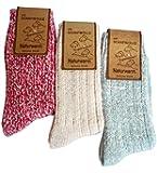 3 oder 4 Paar Kuschelig weiche Norwegersocken mit Schafswolle in verschiedenen Farben