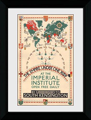 GB Eye Ltd Transport for London, Empire sous Un Seul Toit, encadrée, 50 x 70 cm, Bois, différents, 55 x 75 x 2.9 cm