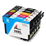 Mipelo Compatible Epson 29XL Gran Capacidad Cartuchos de tinta, Utilizado en Epson Expression Home XP-235 XP-332 XP-432 XP-435 XP-245 XP-247 XP-335 XP-342 XP-345 XP-442 XP-445 Impresora (2 Negro, 1 Cian, 1 Magenta, 1 Amarillo)