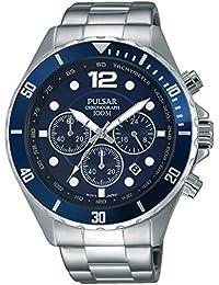 Pulsar Herren-Armbanduhr Analog Quarz Edelstahl PT3719X1