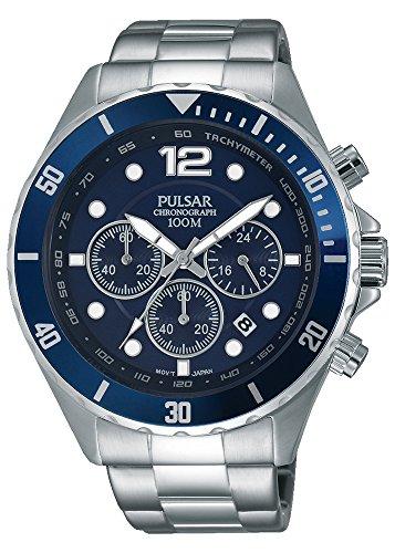 Pulsar para hombre-reloj analógico de cuarzo de acero inoxidable PT3719X1