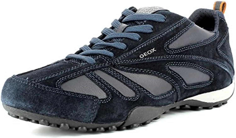 Geox U5207D Snake Sportlicher Herren Sneaker  Schnürhalbschuh  Freizeitschuh  Atmungsaktiv  Lose Einlegesohle