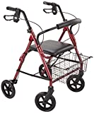 Patterson Medical Rollator 4 Roues Rubis,couleur rouge