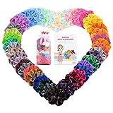 MeaMae Care Haargummis 50 Farben Samt Haargummis Mädchen Bunte Elastische Gummibänder Haarbänder Scrunchies/Pferdeschwanz Haarband Haarschmuck für Mädchen Frauen (50 Stück)