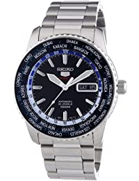 Seiko SRP125K1 - Reloj analógico automático para hombre con correa de acero inoxidable, color plateado
