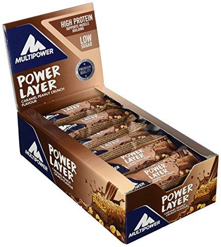Multipower Protein Power Layer Bar Energieriegel mit 30% Protein – Fitnessriegel à 50g – Proteinriegel als Sport-Snack – Eiweißriegel mit Erdnuss Karamel Geschmack – kalorienarmer Eiweißriegel (Bar-erdnuss-karamell)