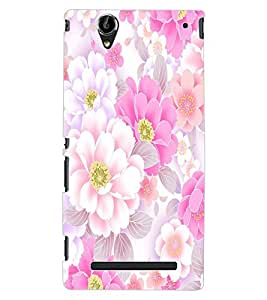 ColourCraft Beautiful Flowers Design Back Case Cover for SONY XPERIA T2 ULTRA DUAL D5322