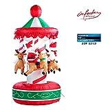 infactory Aufblasbares Karussell: Selbstaufblasendes Weihnachtskarussell 2 Meter (Aufblasbares Weihnachtskarussell)