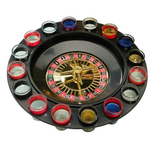 Premier Housewares Ruleta de 16 vasos de chupito para juego de beber