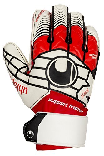 Uhlsport Eliminator Gants de gardien de but Blanc/Rouge/Noir Taille 7,5