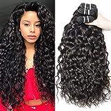 Yavida Cheveux Bresilien Tissage 300G 8A Cheveux Humain Boucles Meche Bresilienne en Lot Tissage Naturel Vague D'eau 18 20 22 Pouces