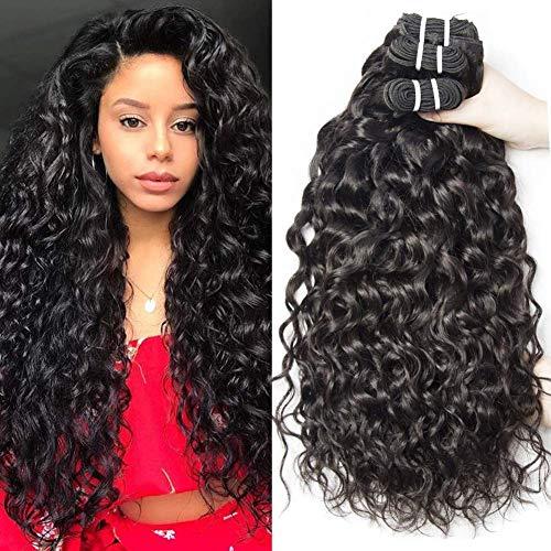 Yavida human hair 9a capelli brasiliani naturali extension capelli umani ricci extension capelli veri tessitura onda d'acqua 3 bundles 18 20 22 pollice