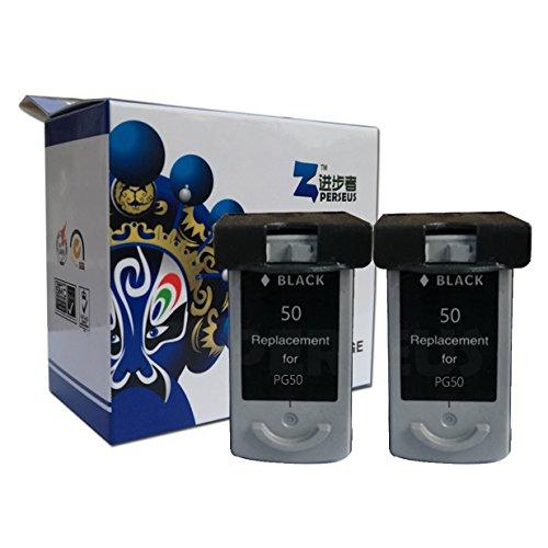 Perseus® Cartucce d'inchiostro con Canon 50 PG50 Nero/Black (2-Pack)Alta Capacità Rigenerata Compatible InkJet/Getto Stampante