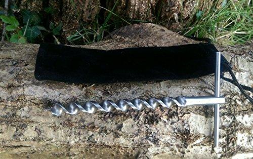Mini-T-Schlangenbohrer, Scotch Eyed, für Poly-Seil, Überlebenstraining & Survival-Fallenjagd