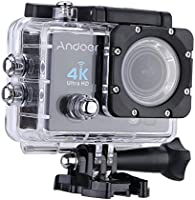Andoer Action Cam WiFi 4K Full HD 16MP 1080P Subacqueo Action Sport Camera 170° Grandangolare Impermeabile 30m con Custodia Impermeabile e Kit Accessori