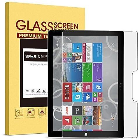 Surface Pro 4protector de pantalla [vidrio templado], sparin Ultra Clear Protector de pantalla de cristal templado de alta definición para Microsoft Surface Pro 412,3pulgadas (versión 2015)