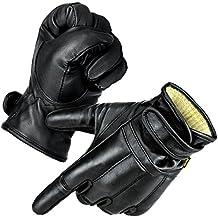"""normani® Fingerhandschuhe /""""Lawbringer/"""" mit Kevlar und Protektoren aus Rindsleder"""
