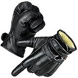 Black Snake 1 Paar Security Quarzsandhandschuhe Defender Einsatzhandschuhe aus echtem Leder Schwarz/Kevlar XXL