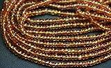 33cm Full ciocca, rara nero Tormalinato quarzo sfaccettato perle ,3.5–4mm