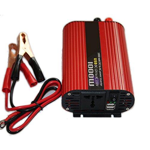 1000 Watt DC 12 V zu AC 220 V USB Portable Wechselrichter Ladegerät Universal Spannungswandler Zucker Power 2000 Watt