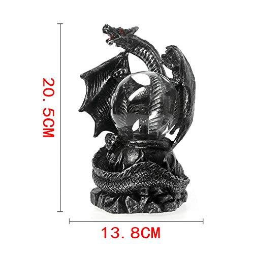 stischen Dragon Statue Von Halloween Beleuchtung Dekoration des Mittelalterlichen Dragon Electric Plasma Ball ()