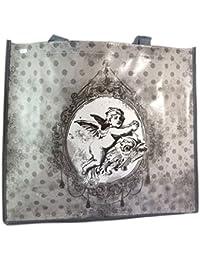 bf6311972 Bolsa de compras retro 'Petit Ange'gris - 46x40x19 cm.