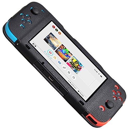Body Con Mini (Nintendo Switch Case, Supremery Hülle Kunstleder Body Tasche in Schwarz)