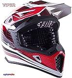 VIPER RS X95 MOTOCROSS MOTO QUAD ATV DIRT ENDURO OFF ROAD DEPORTE CARRERAS MOTO CASCO ROJO (L (59-60...