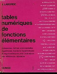 Tables numeriques de fonctions elementaires par Jean Laborde (II)