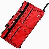 Deuba XXL Reisetasche mit Trolleyfunktion Rollen mit Kugellager Teleskopgriff abschließbar 160 Liter in Rot Sporttasche Reisetrolley Gepäcktasche