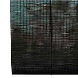 Tende a rullo Tapparelle Avvolgibili - Paralume in bambù A Rullo Filtrante Leggero (Tessuto Naturale), Tende Nere, Multi-Formato Opzionale (Dimensioni : 135x225cm)