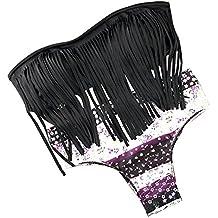 DELEY Mujeres Niñas Flecos Borlas Halter Bandeau Push Up Bikini Sets Vacaciones Verano Traje De Baño
