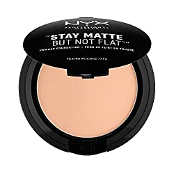 NYX PROFESSIONAL MAKEUP Stay Matte but not Flat Powder Foundation, Soft Sand, 0.26 Ounce
