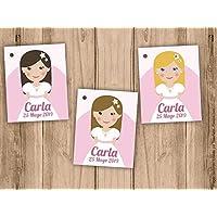 Etiqueta para detalle de Primera Comunión niña Pack 25 udes.