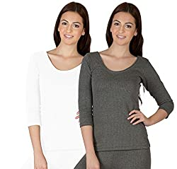 Selfcare Womens Thermal Top (Pack Of 2) (SW0020_Multi_M)