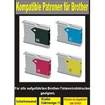 32 kompatible Patronen (8x bk, cy,ma,ye) für diese Brother-Drucker:MFC- 235C / 240C / 245C / 260C / 440CN / 465CN / 660CN / 665CW / 680CN / 3360C / 5460CN / 5860CN / 845CW- DCP-130C / 135C / 150C / 330C / 350C / 357C / 540CN / 560CN / 750CW / 770CW- FAX-2480C / 1360C / 1860C / 1960C