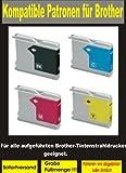 12 kompatible Patronen ( 3x bk, cy,ma,ye ) für diese Brother-Drucker: MFC- 235C / 240C / 245C / 260C / 440CN / 465CN / 660CN / 665CW / 680CN / 3360C / 5460CN / 5860CN / 845CW - DCP-130C / 135C / 150C / 330C / 350C / 357C / 540CN / 560CN / 750CW / 770CW - FAX-2480C / 1360C / 1860C / 1960C