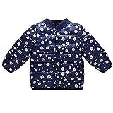 NPRADLA 2018 Baby Steppjacke Leicht Kinder Übergangsjacke Jacke mit Ohren Kapzuenjacke Mädchen Jungen Herbst Winter(Dunkelblau,130/4-5 Jahre alt)