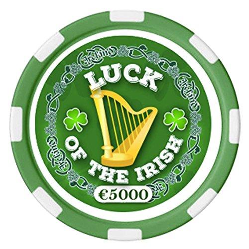 Carrolls Irish Gifts Irischer Pokerchip mit Text Luck of The Irish und Harfendesign