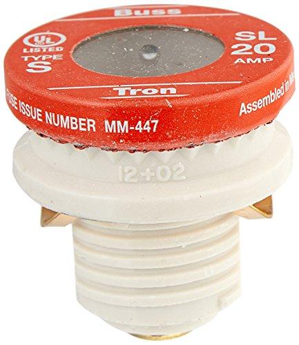 Sl Plug Fuse (Bussmann SL-20PK4 20 Amp Time Delay Loaded Link Rejection Base Plug Fuse, 125V UL Listed, 4-Pack by Bussmann)
