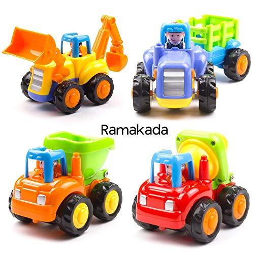 Ramakada Unbreakable Automobile Car Toys for Kids Set of 4, Multi Color