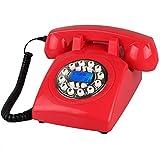 Designer Retro Telefon/Wählscheibe Telefon/Retro-Stil Telefon/Vintage Telefon/Classic Desk Phone (Farbe : Silver Button)