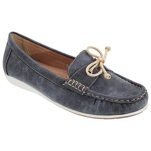 Boulevard Damen Schuhe / Mokassins / Bootsschuhe / Loafer Olive