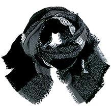 accessu® Oversize écharpe tissée à carreaux Check Design Automne Hiver bb29ecf230f