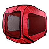 Dog Kennel Haustierbox, für (Camping-) Ausflüge, faltbar, Stoff