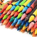 Invero® 144Stück Wachsmalstifte ideal für alle Kinder Kinder, Schulen, Kinderzimmer, Restaurants, Cafés und mehr von Invero®